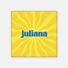 "Juliana Sunburst Square Sticker 3"" x 3"""