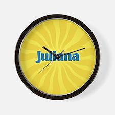 Juliana Sunburst Wall Clock