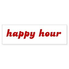 happy hour Bumper Car Sticker