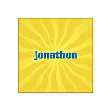 "Jonathon Sunburst Square Sticker 3"" x 3"""