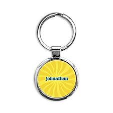 Johnathan Sunburst Round Keychain