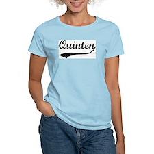 Vintage: Quinten Women's Pink T-Shirt