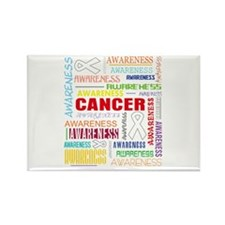Retinoblastoma Awareness Collage Rectangle Magnet