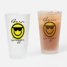 Swagged Out Emoticon T-shirt Drinking Glass