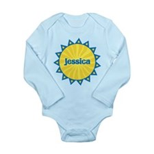 Jessica Sunburst Long Sleeve Infant Bodysuit