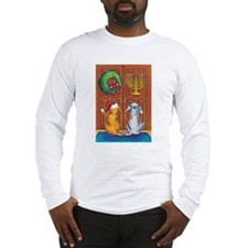 Chrismukkah Dogs  Long Sleeve T-Shirt