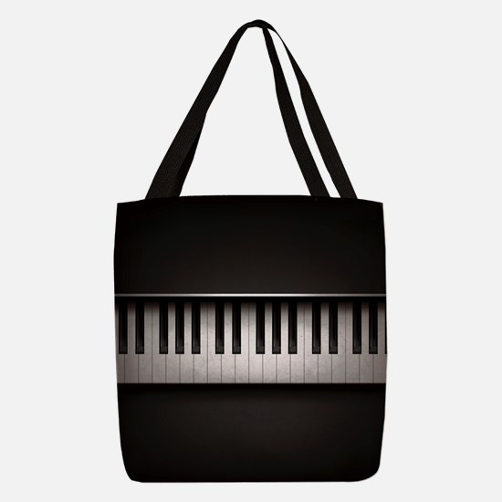 Piano Polyester Tote Bag