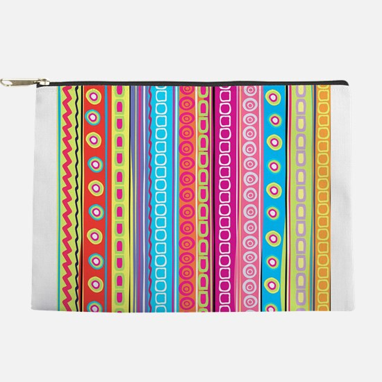 Colorful Stripes Makeup Pouch