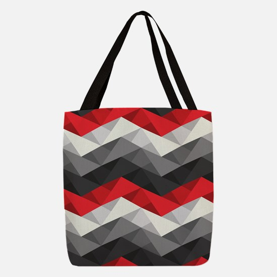Abstract Chevron Polyester Tote Bag