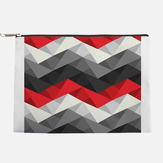 Abstract Chevron Makeup Pouch