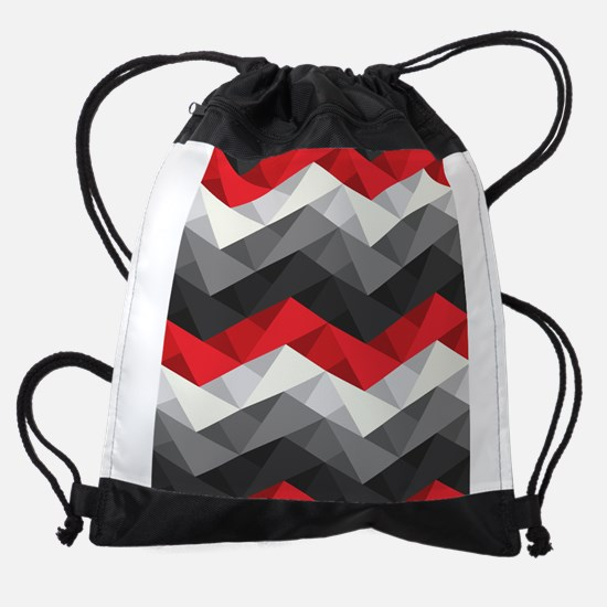 Abstract Chevron Drawstring Bag