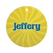 Jeffery Sunburst Ornament (Round)