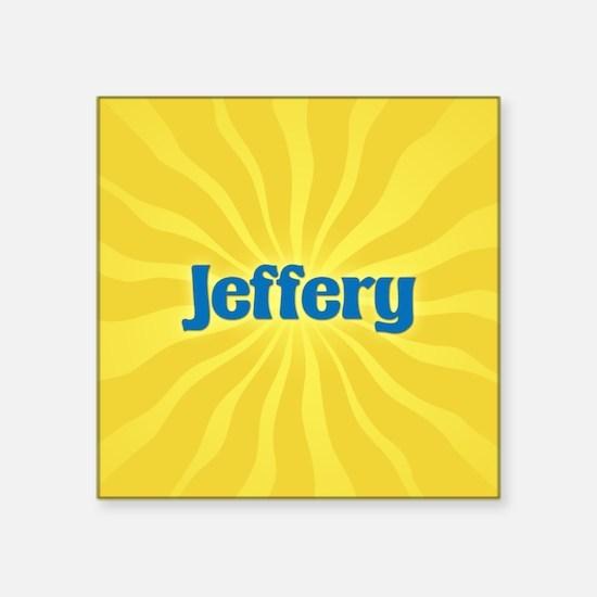 """Jeffery Sunburst Square Sticker 3"""" x 3"""""""
