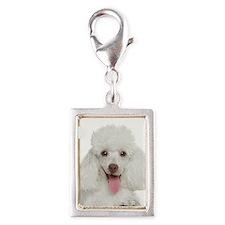 Poodle Mom Silver Portrait Charm