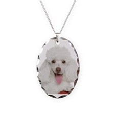 Poodle Mom Necklace Oval Charm