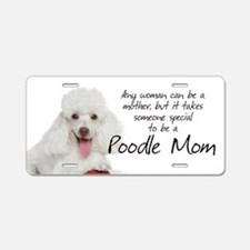 Poodle Mom Aluminum License Plate