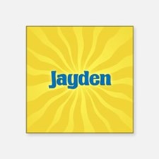 """Jayden Sunburst Square Sticker 3"""" x 3"""""""