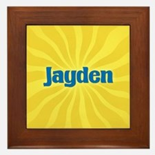 Jayden Sunburst Framed Tile