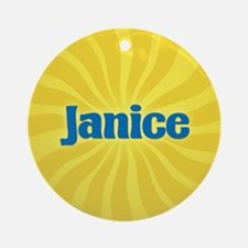 Janice Sunburst Ornament (Round)