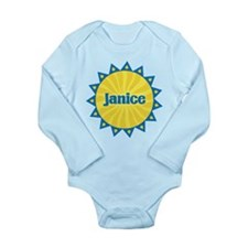 Janice Sunburst Long Sleeve Infant Bodysuit