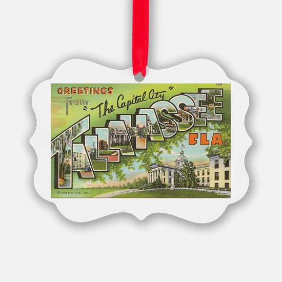 Greetings from Tallahassee, FL Ornament