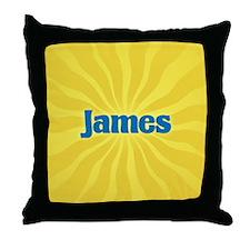 James Sunburst Throw Pillow
