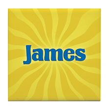 James Sunburst Tile Coaster