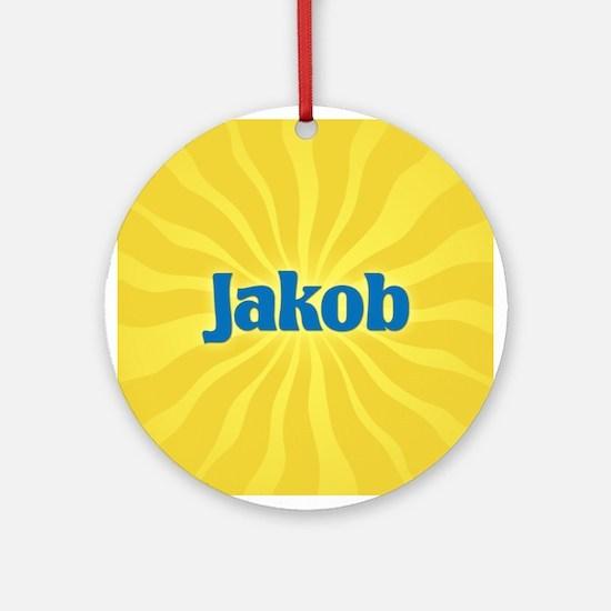 Jakob Sunburst Ornament (Round)