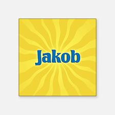 """Jakob Sunburst Square Sticker 3"""" x 3"""""""
