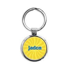 Jaden Sunburst Round Keychain