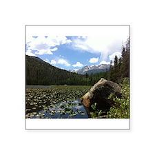 """Fern Lake, Colorado Square Sticker 3"""" x 3"""""""