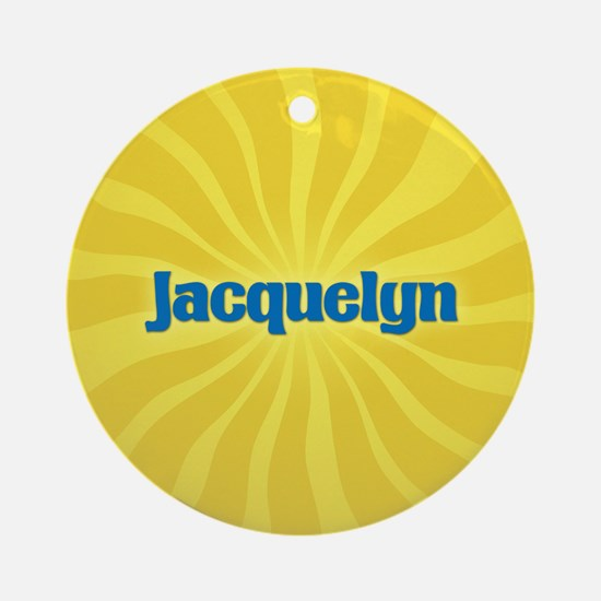 Jacquelyn Sunburst Ornament (Round)