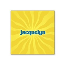 "Jacquelyn Sunburst Square Sticker 3"" x 3"""