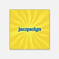 "Jacquelyn Sunburst Square Sticker 3"" x 3"""
