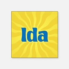 "Ida Sunburst Square Sticker 3"" x 3"""
