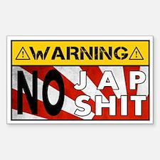 No Jap Shit Decal