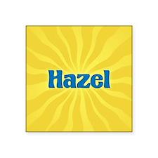 "Hazel Sunburst Square Sticker 3"" x 3"""