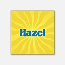"Hazel Sunburst Square Sticker 3"" x 3"""