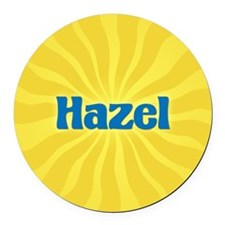 Hazel Sunburst Round Car Magnet
