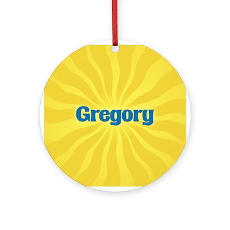 Gregory Sunburst Ornament (Round)