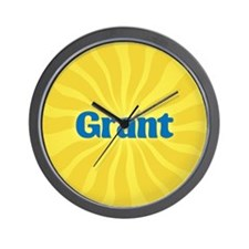Grant Sunburst Wall Clock