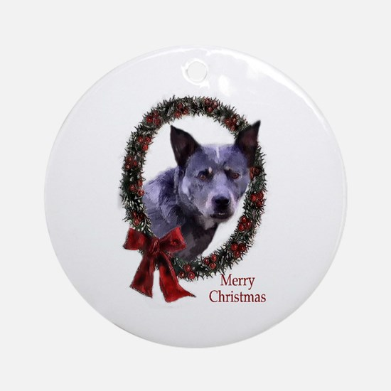 Australian Cattle Dog Christmas Round Ornament