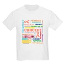 Endometrial Cancer Awareness Collage T-Shirt