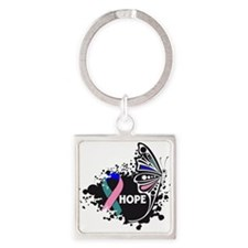 Hope Thyroid Cancer Square Keychain