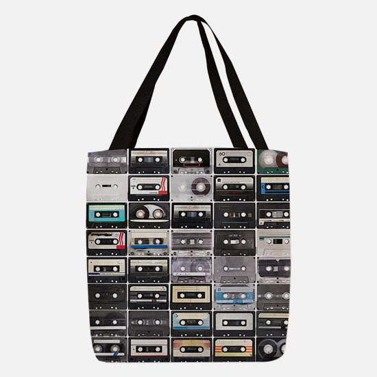 Cassette Tapes Polyester Tote Bag