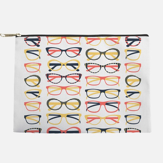 Hipster Glasses Makeup Pouch