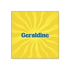 """Geraldine Sunburst Square Sticker 3"""" x 3"""""""