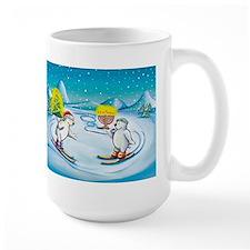 Chrismukkah Skiing Bears Mug