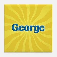 George Sunburst Tile Coaster
