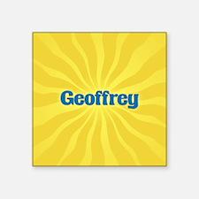"""Geoffrey Sunburst Square Sticker 3"""" x 3"""""""